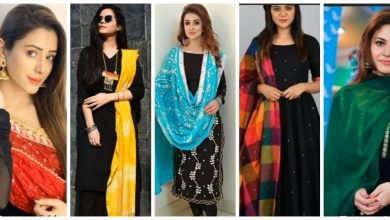 Photo of Black salwar With Contrast Dupatta