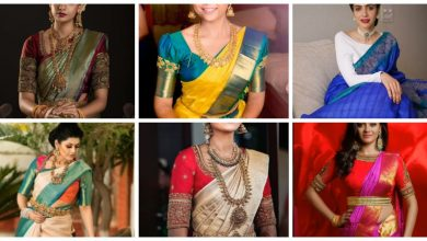 Photo of Silk saree blouse contrast combination designs