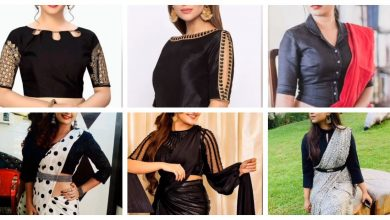 Photo of Black blouse designs