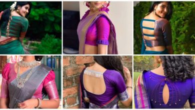Photo of silk saree blouse design ideas