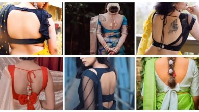 Photo of Beautiful backless blouse design