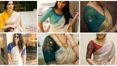 Photo of White saree with contrast blouse designs ideas