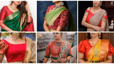 Photo of Latest red blouse design ideas