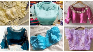 Photo of Boat neck blouse designs