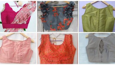 Photo of simple and sober blouse designs