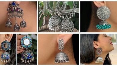 Photo of Silver jhumka earrings design collection