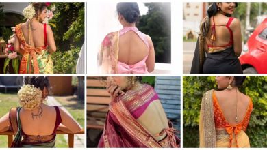Photo of Tending backless blouse designs