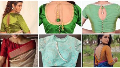 Photo of New latest saree blouse neck designs with potli buttons