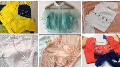 Photo of Back Neck Blouse designs for girls