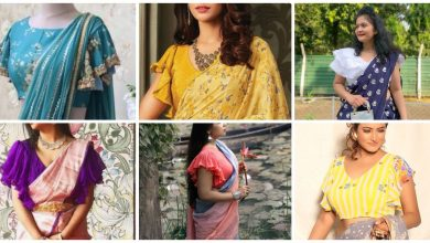 Photo of Ruffle sleeves blouse designs