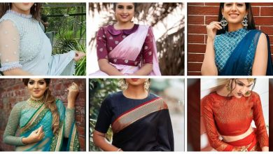 Photo of Different types of High neck blouse designs