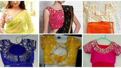 Photo of Simple Mirror Work Blouse