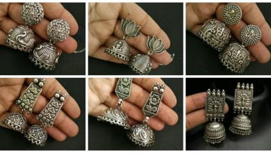 Photo of Silver Jhumkas and Earrings