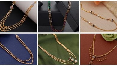 Photo of Light Weight Gold Short Necklace Design
