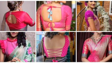 Photo of pink blouse designs